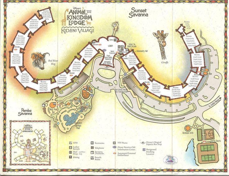 Animal Kingdom Lodge Kidani Village Resort Map One Of My - Sanaa map