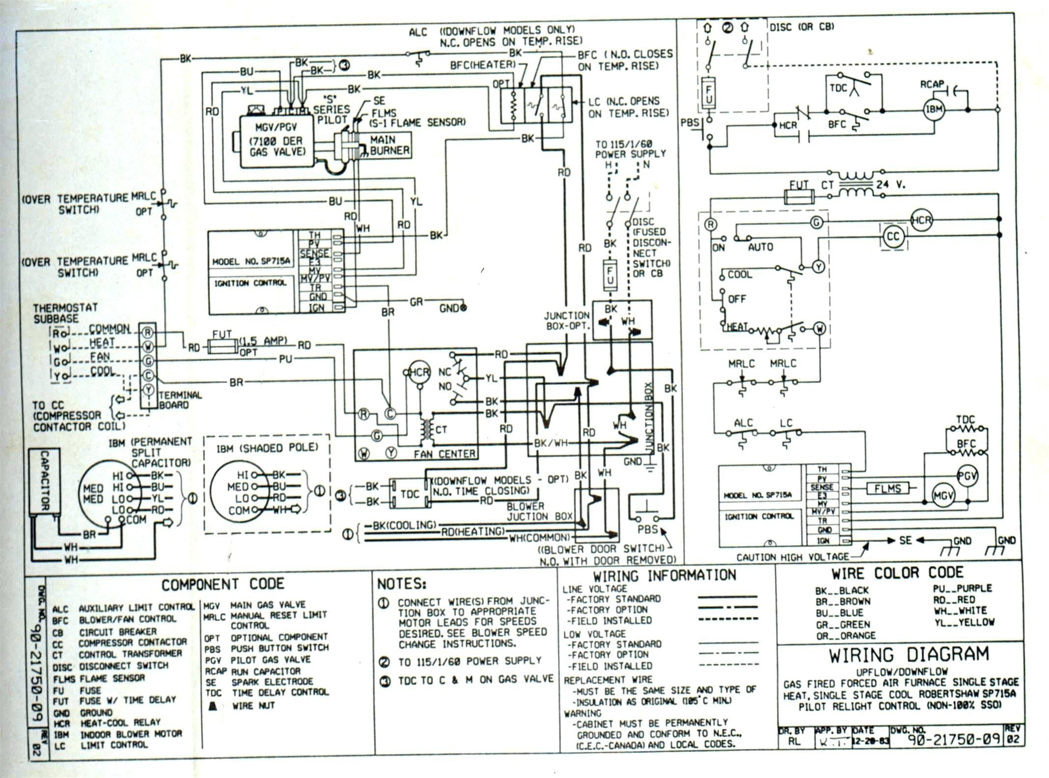 Unique Trane Heat Pump thermostat Wiring Diagram in 2020