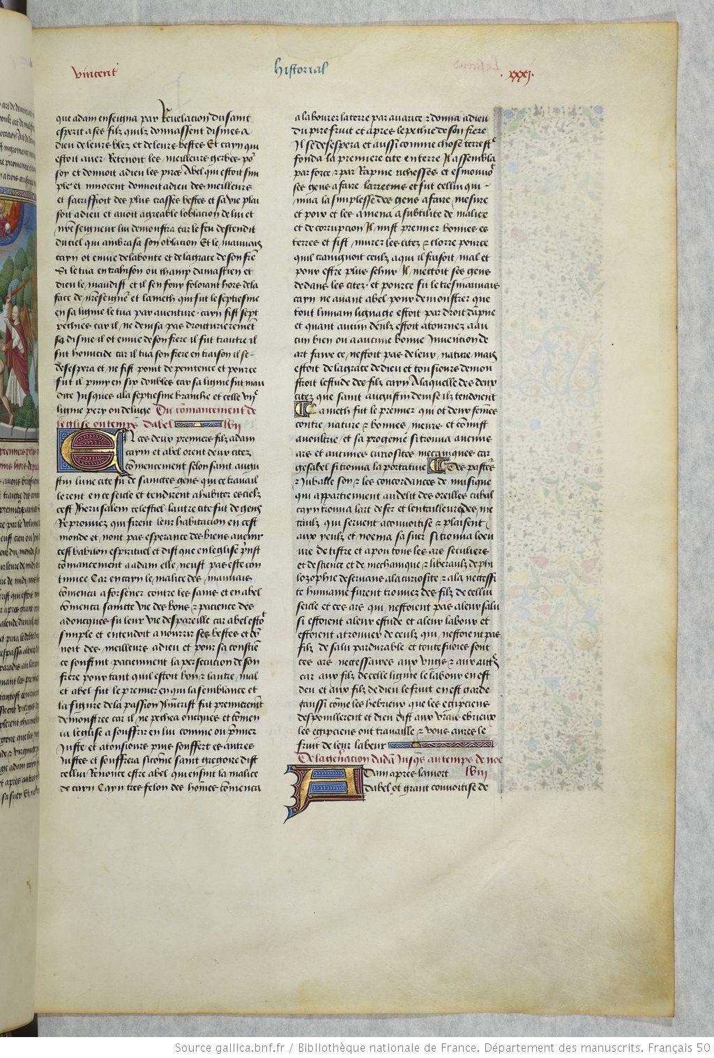 Le Mirouer Historial De Vincent De Beauvais Traduction De