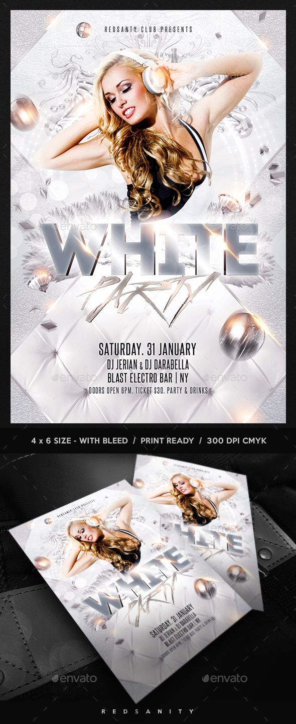 all white party flyer template free - Ideal.vistalist.co