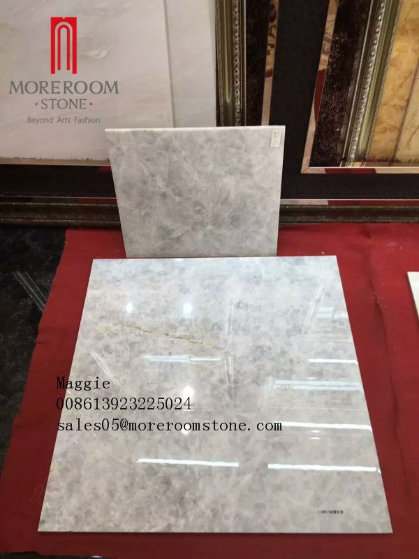 800x800 High Glossy Glazed Crystal Blue Onyx Ceramic Tile Cheap