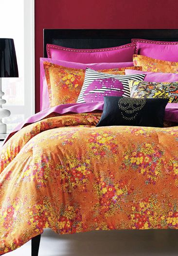 Betsey Johnson Va Va Voom Bedding In Orange And Pink Found At Allmodern Betsey Johnson Bedding Bedding Sets Pink Bedding Set
