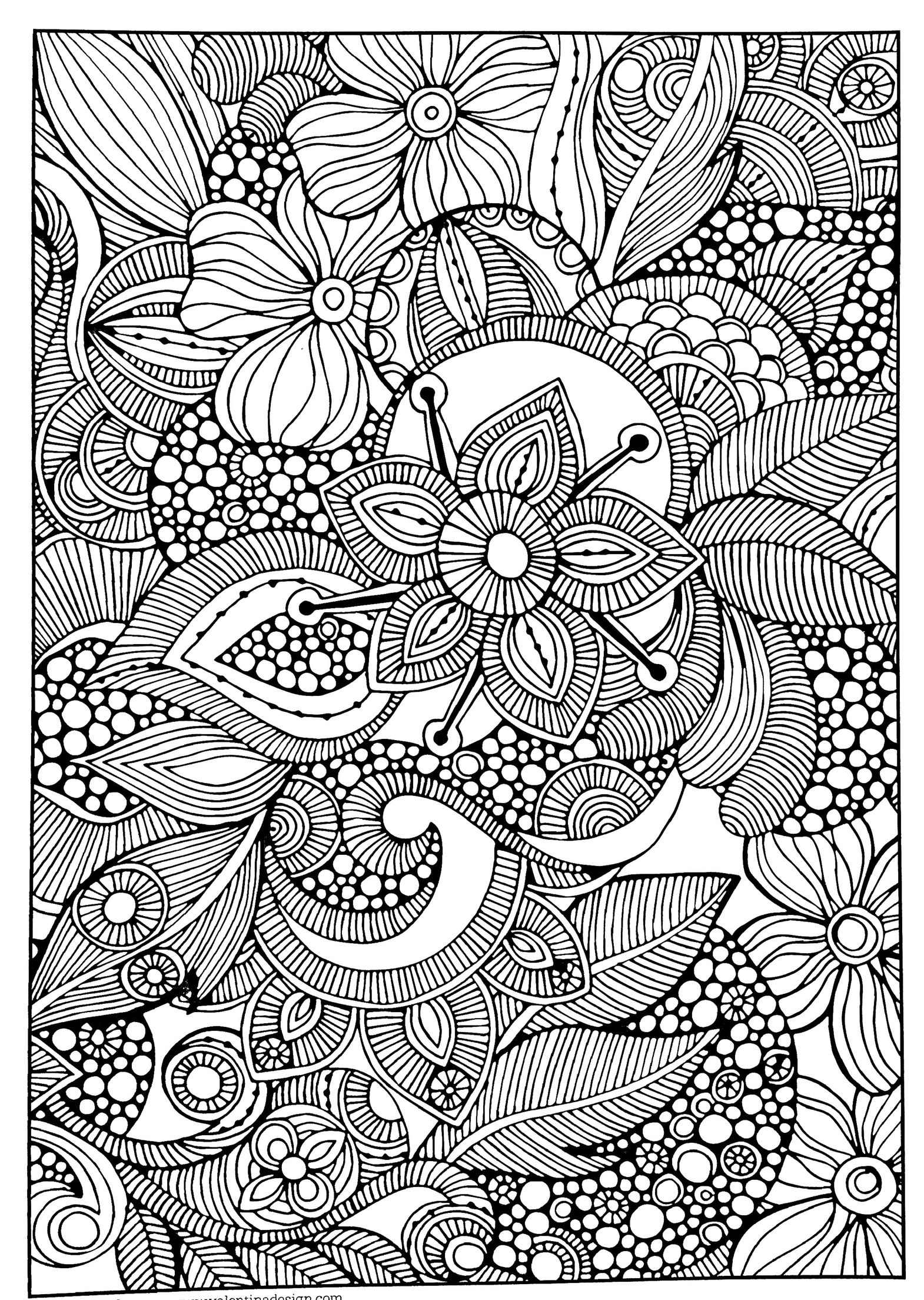 Adult coloring page kleurplaten Pinterest Adult coloring