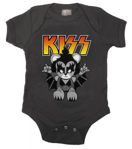 Kiditude - KISS Lil Demon Romper $18.95 Read more: http://www.kiditude.com/catalog/rock-baby-clothes/kiss-lil-demon-romper-773.html