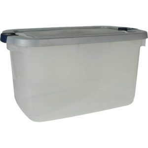 Rubbermaid Roughneck Clears Storage Box Clear/Gray Set of 4  sc 1 st  Pinterest : rubbermaid rugged storage  - Aquiesqueretaro.Com