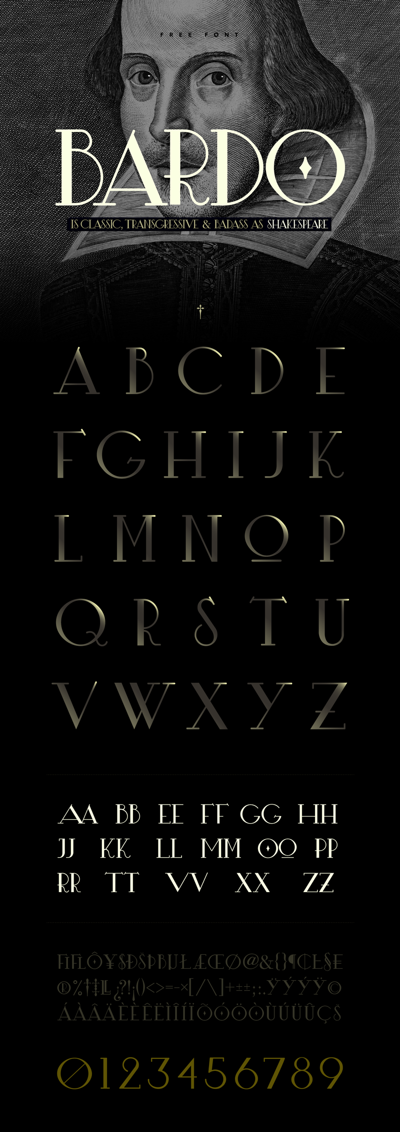 Fresh Free Font Of The Day : Bardo