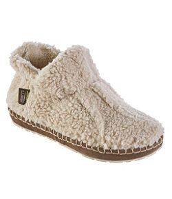 #LLBean: Women's Cozy Slipper Booties, Pile Fleece