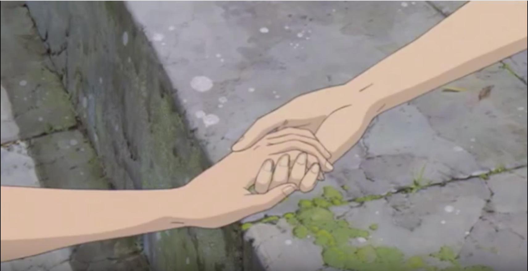 Holding hands by AnimeGamerGirl on deviantART