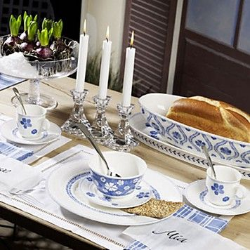 Villeroy & Boch Farmhouse Touch Relief Blue Flowers ...