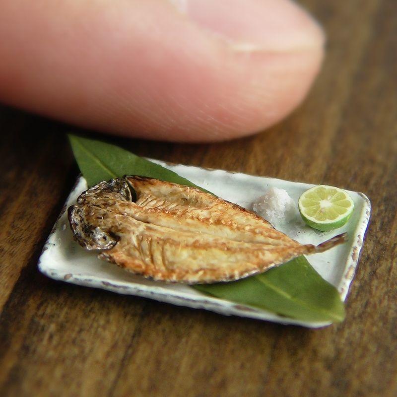 Mackerel Fish dollhouse miniatures Handmade supply