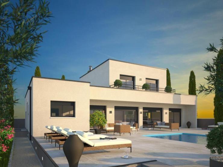 une maison contemporaine par maisons france confort - Modeles De Maison A Construire