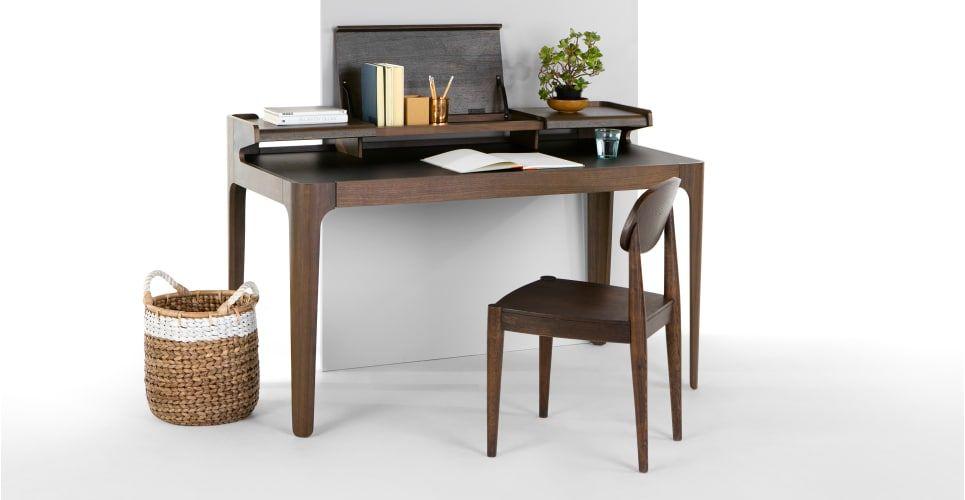 Schreibtisch Dunkles Holz 2021