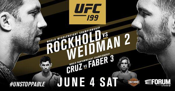 Luke Rockhold Meets Chris Weidman And Dominick Cruz Battles Urijah Faber Other Ufc 199 Fights Are Announced Dominick Cruz Luke Rockhold Weidman