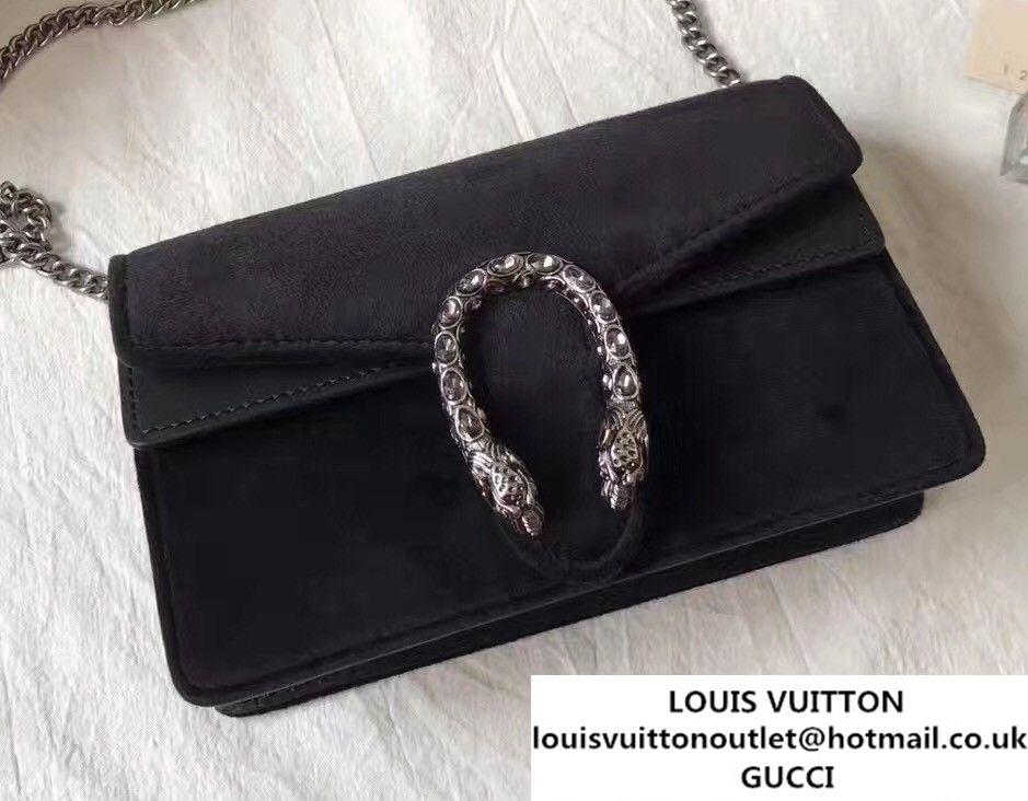 1a440af29 Gucci Dionysus Chain Super Mini Bag 476432 Velvet Black 2017 | Gucci ...