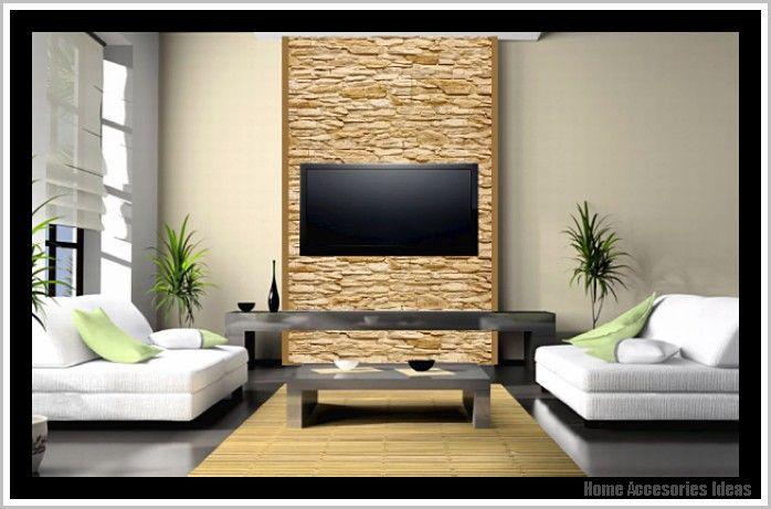 Aussenwand Steinoptik Brushen -   homeaccesoriesideas - ideen fur wohnzimmer streichen