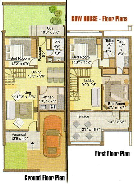 Charleston Row House (HWBDO68300) | Cape Cod House Plan from ...