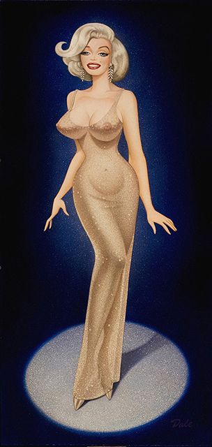 Dale Sizer's sexy vintage paintings of American pin-up girls... Reminds me of Marilyn the night she sang for JFK  http://www.lookyoungforever.org/