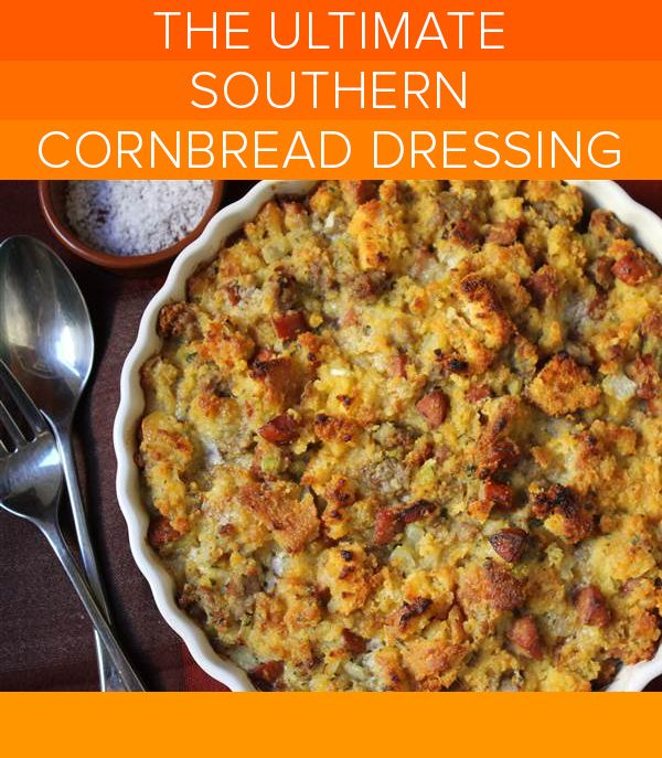 This is the best Southern cornbread dressing we've ever tasted! -   18 stuffing recipes for thanksgiving with sausage cornbread dressing ideas