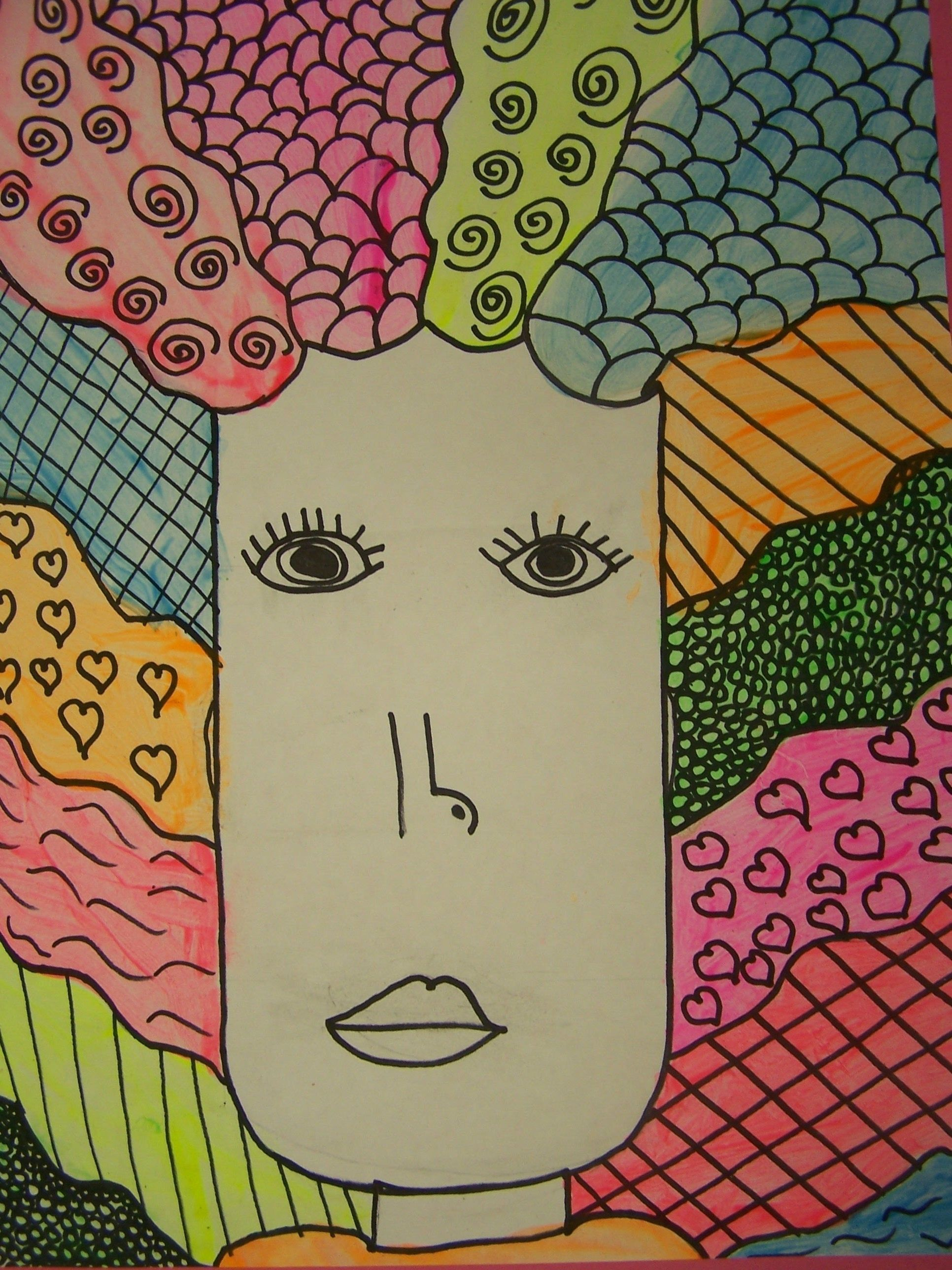 Resource Bad Hair Day Line Art Projects Elementary Art Art Lessons