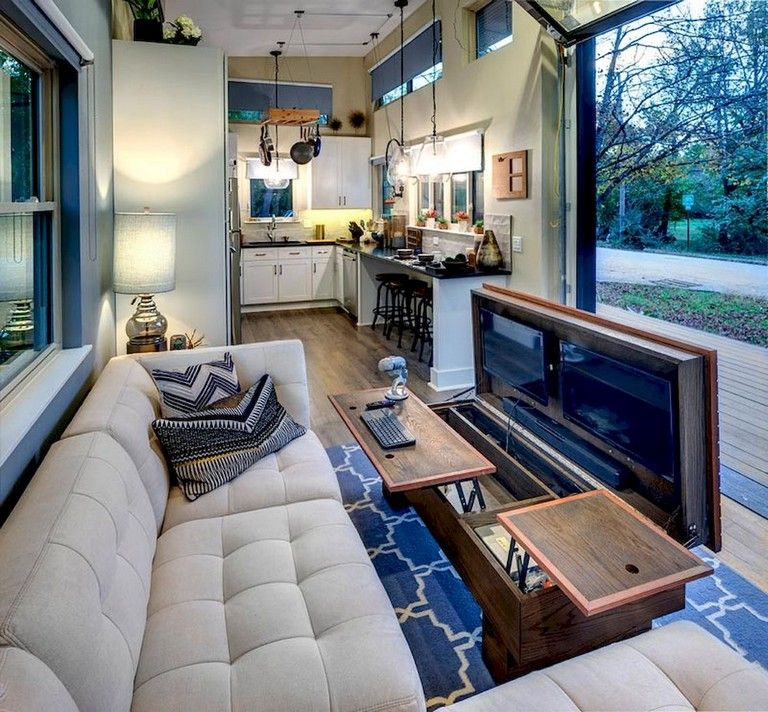 30 Small Living Room Decorating Ideas: 65 Good Small And Unique Tiny House Living Design Ideas