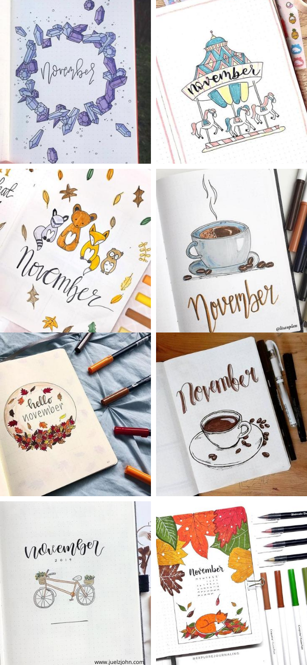Bullet journal cover ideas for November