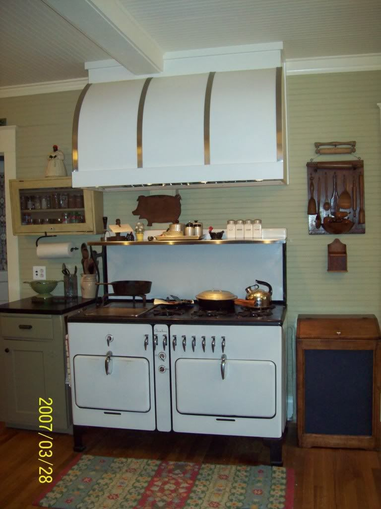 Chambers Stove with Interesting Hood | Vintage Cabinets | Pinterest ...