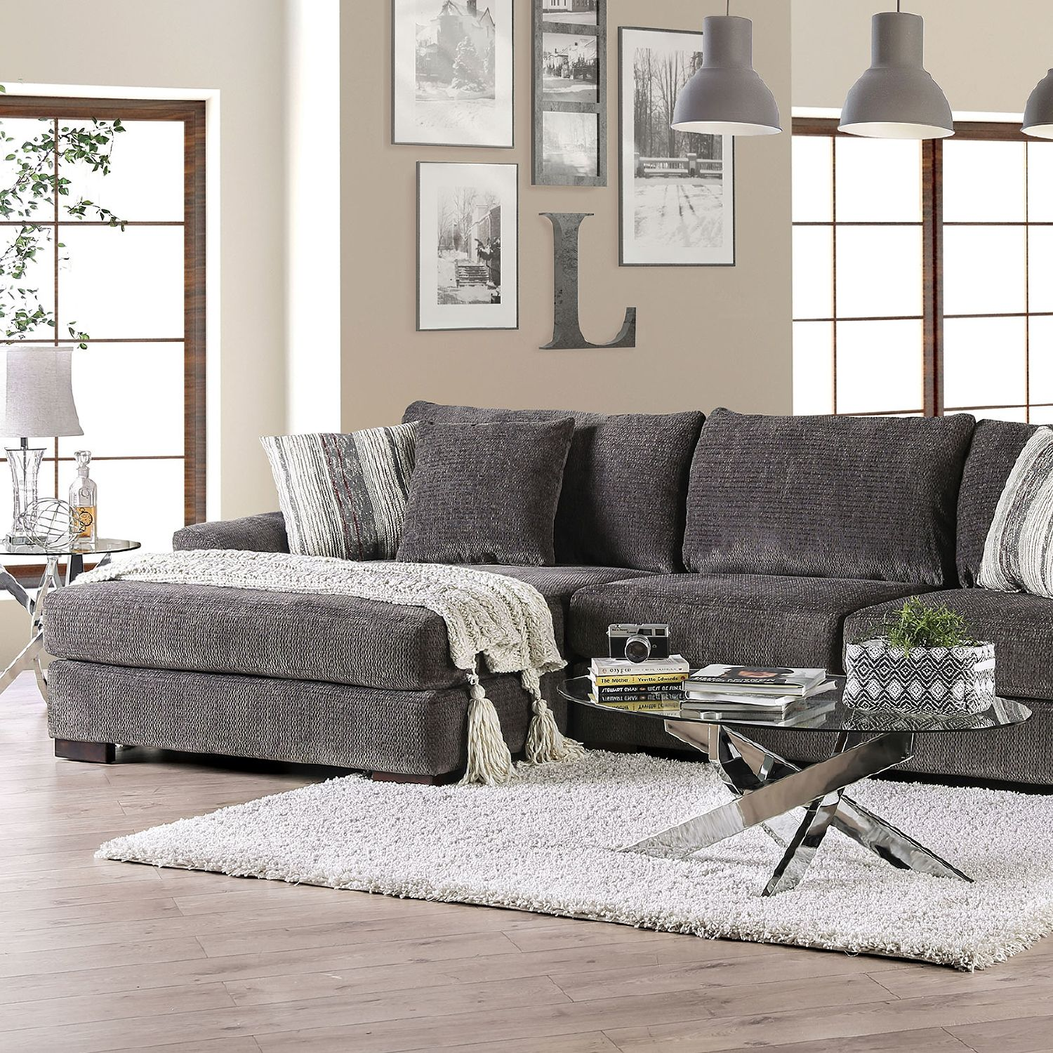 Sigge Charcoal Sectional Sofa In 2020 Sectional Sofa Sofa Loveseat Set Couch Loveseat