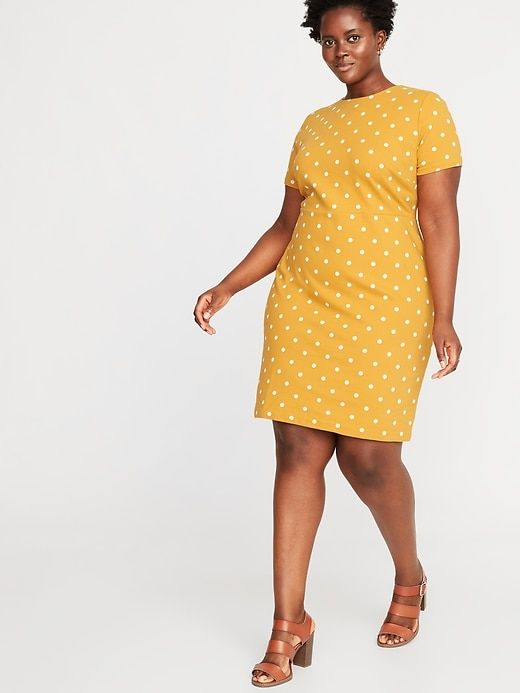 Old Navy Printed Ponte-Knit Plus-Size Sheath Dress in 2019 ...