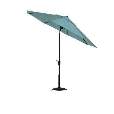 6 ft. Aluminum Auto Tilt Patio Umbrella in Sunbrella Aruba with ...