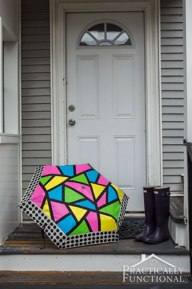 Neon Color Block Umbrella || Practically Functional