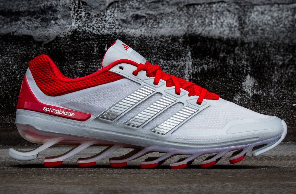 super popular 5969e 14294 adidas Springblade   Metallic Silver Scarlet Red