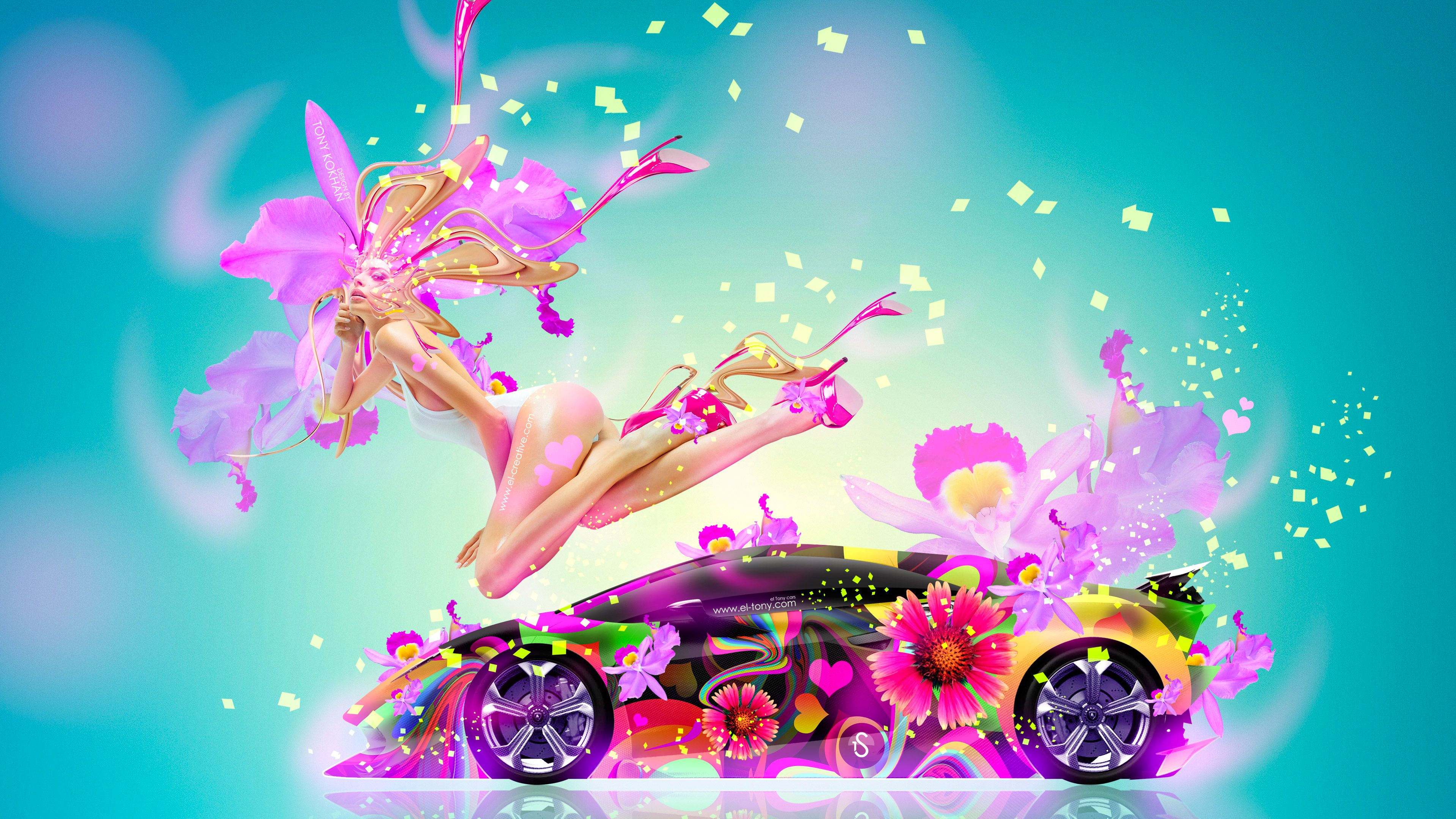 Fantasy Fly Sexy Flowers Girl Mix Lamborghini Sesto