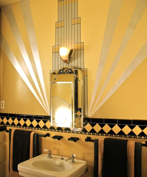 Art Deco Wall Mural Where Art Inspires Beauty Art Deco Bathroom Art Deco Home Art Deco Interior