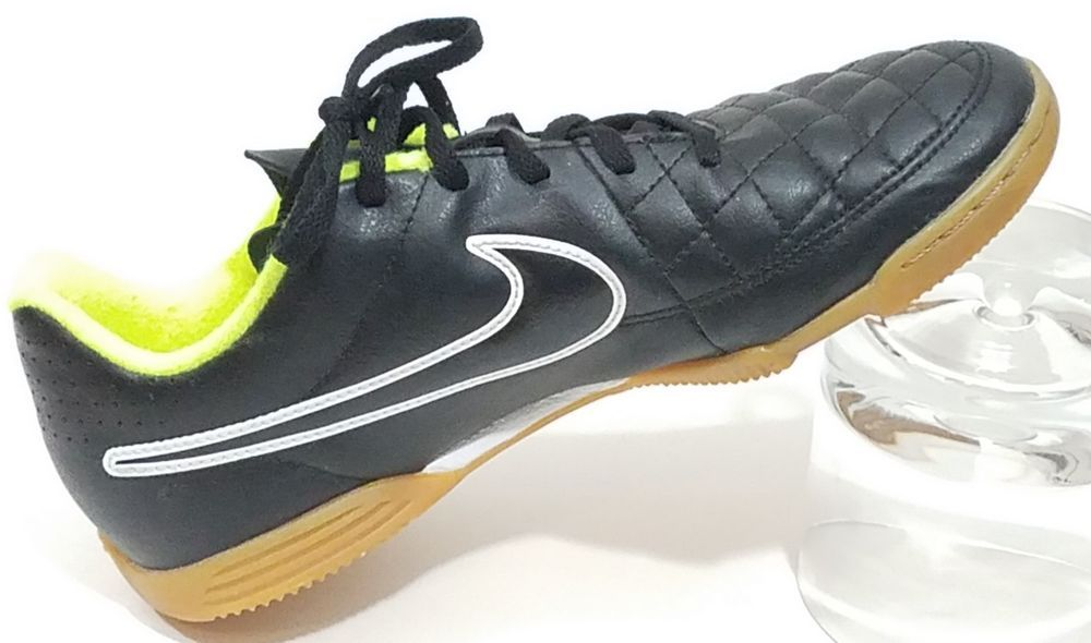 0ab20a0ef NIKE Better World TIEMPO Black Yellow Indoor Soccer Shoes - Sz. 5Y  Nike   Athletic