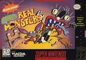 Nickelodeon Aaahh Real Monsters Snes Game Super Nintendo