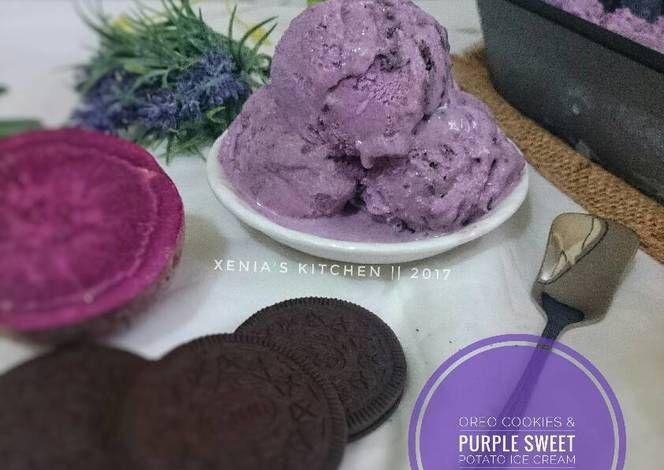 Resep Es Krim Oreo Ubi Ungu Oleh Retno Nia Sari Xenia S Kitchen Recipe Ice Cream Oreo Traditional Cakes