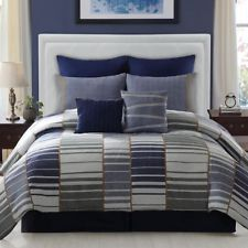Navy And Gray Comforter Piece Comforter Set High Quality Queen