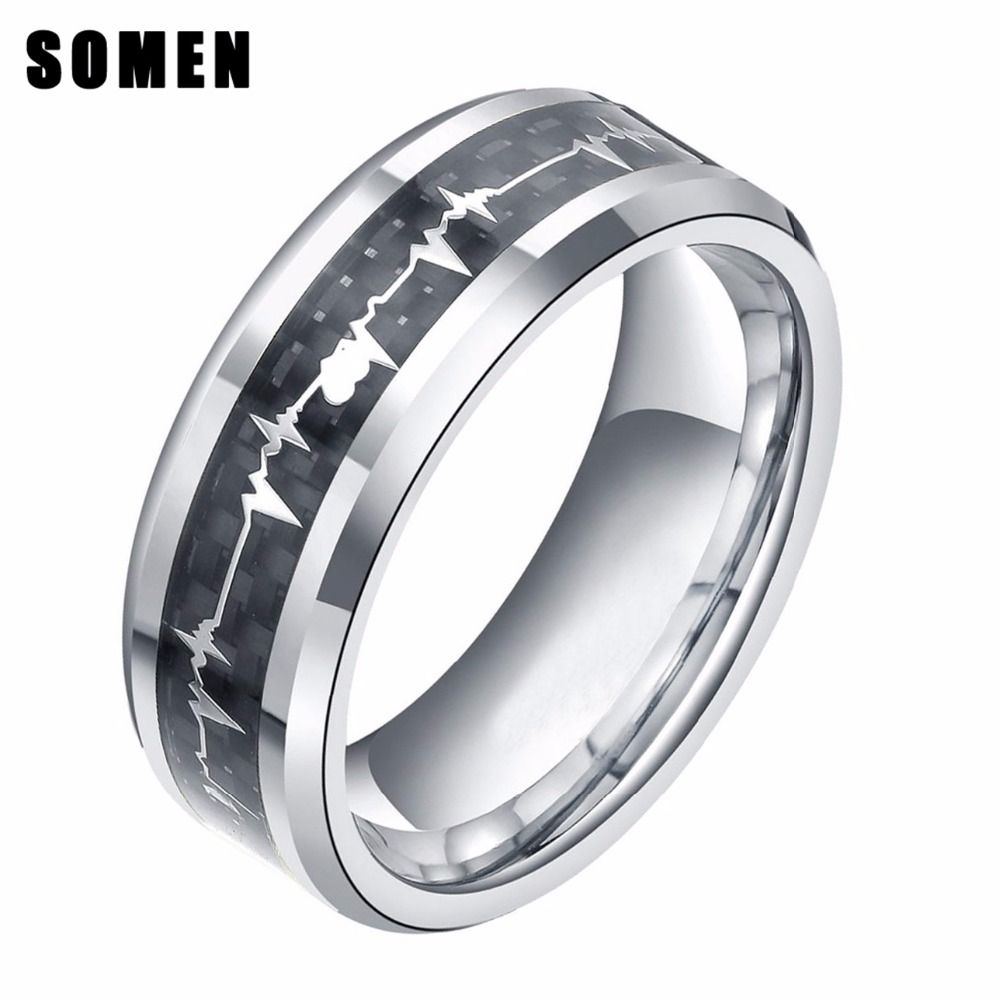 titanium classic wedding inlay ring image engagement bands jewellery blue and men mens carbon besttohave rings