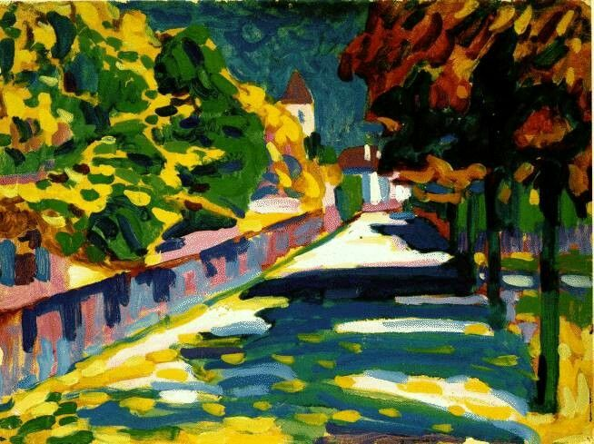 Wassily Kandinsky - Autumn in Bavaria (1908)