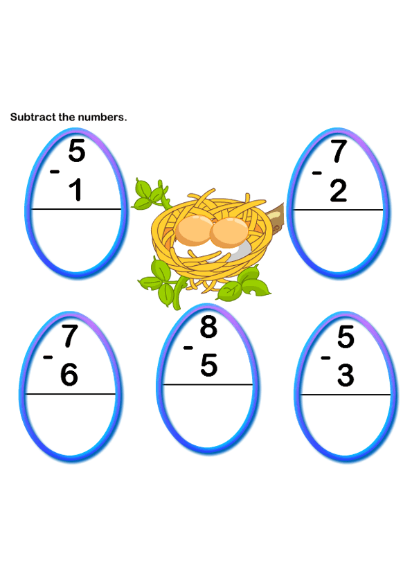 Math Worksheets Kindergarten Worksheets Subtraction Worksheets – Kindergarten Online Worksheets