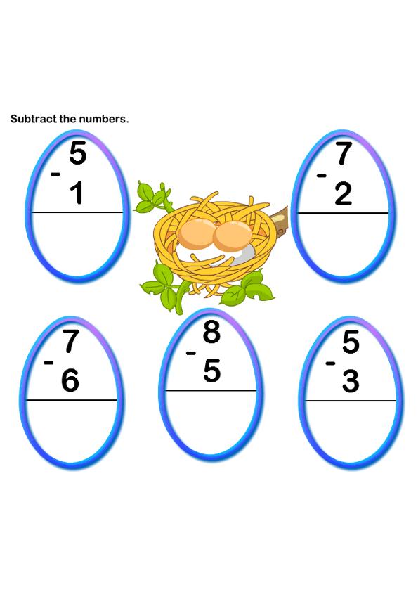 Math Worksheets, Kindergarten Worksheets, Subtraction Worksheets ...
