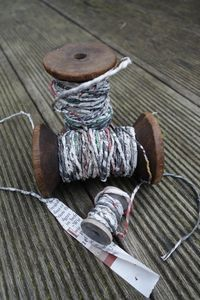Photo of Making yarn from newsprint ~ DIY: Image 2