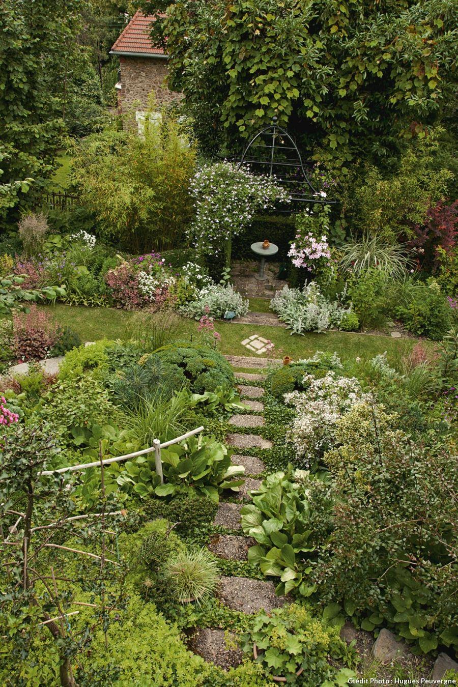 AVANT-APRÈS : aménager un chemin en pente | Gardens, Green garden ...