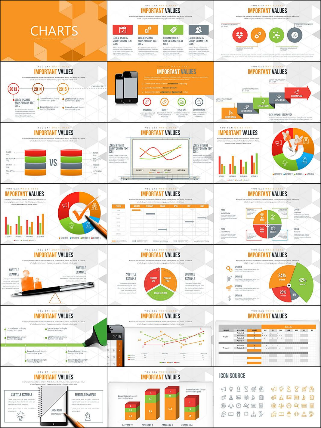 Taxes and Accounting PowerPoint charts | ImagineLayout.com ...