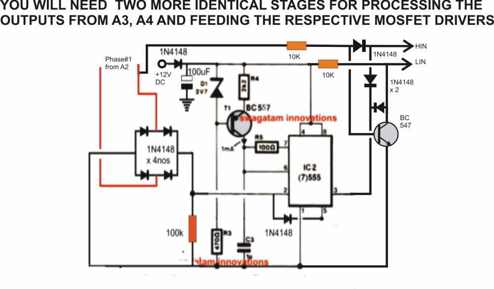 Driving a three phase motor on a single phase supply