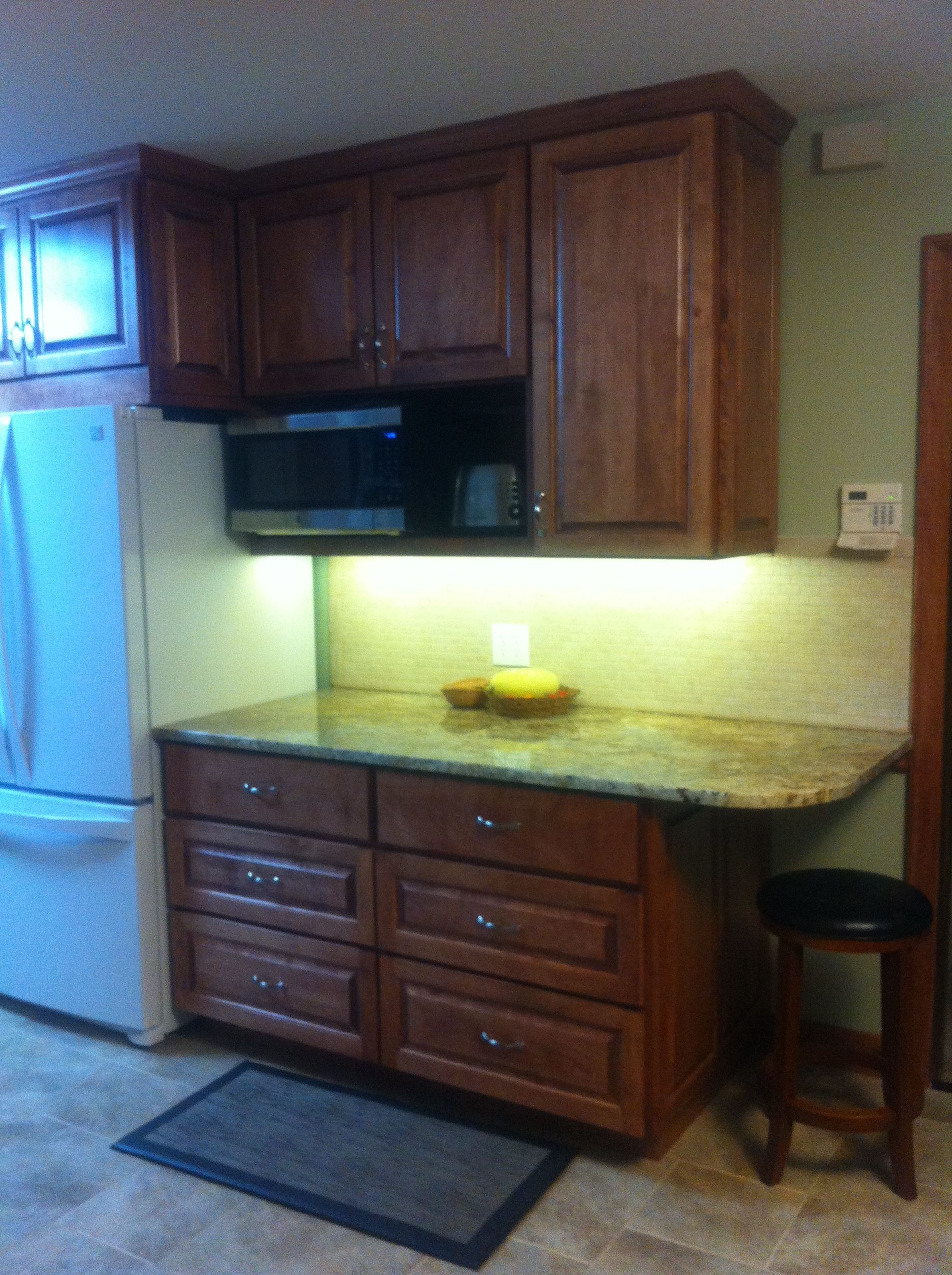 Extra deep counter with drawers. I can't believe how much ...