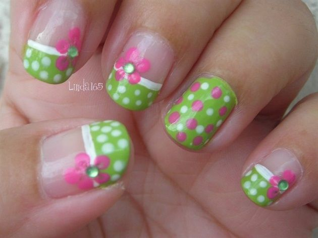 Pink Polka Dot Bikini - Nail Art Gallery by NAILS Magazine