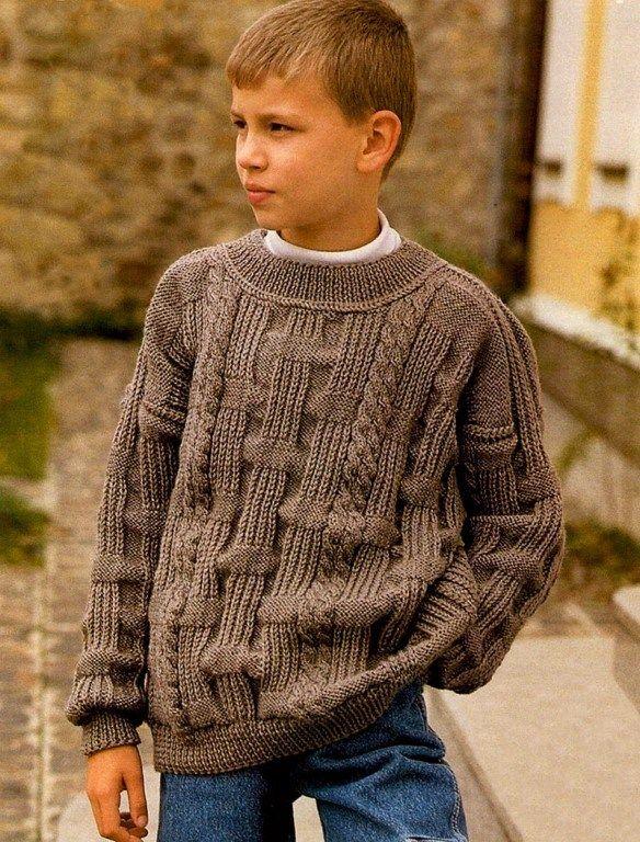 вязание свитшота на мальчика 6 лет видео