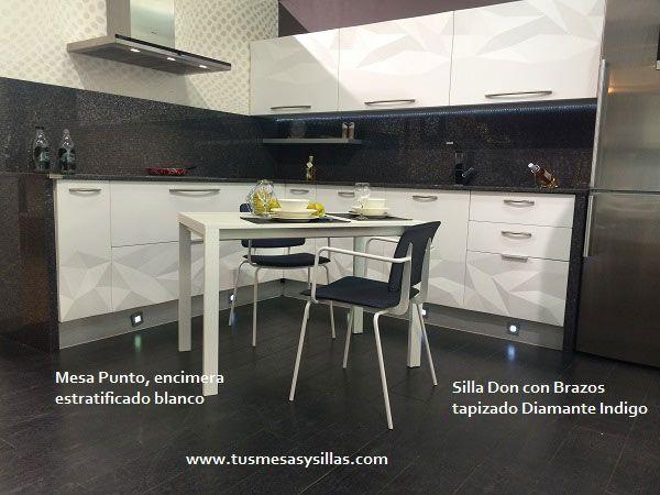 Mesa extensible pata deslizante para cocina o comedor en for Cocinas modernas blancas precios