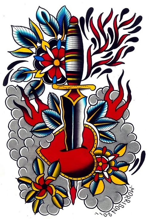 old school tattoo tatouage   tattooblr - best tattoos   old school